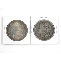 Lot (2) USA Silver Dollars 1896-o & 1923.