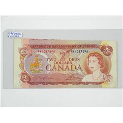 Bank of Canada 1954 $2 Error Note. AU-50, E-25.