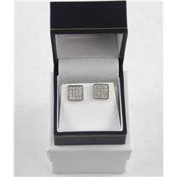 925 Silver Custom Earring Pave Set with Swarovski