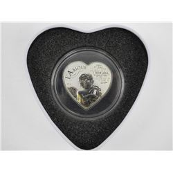 925 Sterling Silver Heart Shape 'Love' Coin LE 250