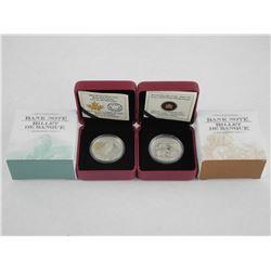 2x RCM .9999 Fine Silver $5.00 Coins - Vignette $5