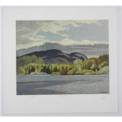 "A.J. Casson (1898-1992) Litho 'Casson Lake' 11x14"""