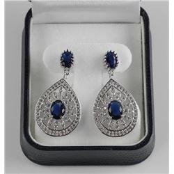 925 Silver Custom Earring with Bead Set Swarovski