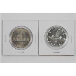Lot (2) 1939 and 1954 Canada Silver Dollars534