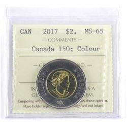 Canada 2017 $2.00 Glow in the Dark Coin MS-65ξICC