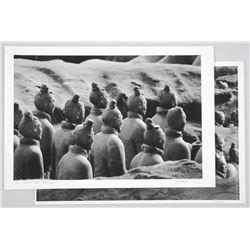 Lot (2) Original Photographic Litho's 'Terra Cotta