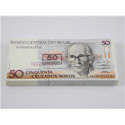 Original Brick (100) Brazil 50 CRUZADOS NOVOS