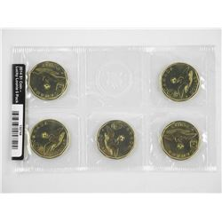 2014 $1 Coin - Lucky Loonie 5 Pack.