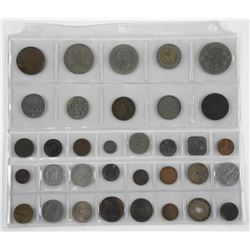 Lot of (34) World Coins.