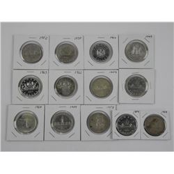 Canada Silver Dollar Collection with Book and Pric