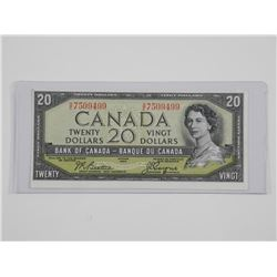 Bank of Canada 1954 Twenty Dollar Note. Modified P