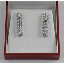 925 Silver Custom Drop Earring Marquise Cut. Hand