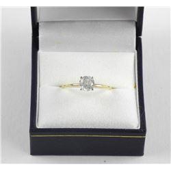 Estate - Ladies 14kt Gold Diamond Solitaire Ring (
