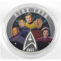 .9999 Fine Silver $30.00 Coin 'Star Trek-5 Captain