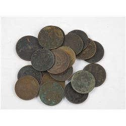 Lot (2) Mixed Breton Tokens and Large Cent