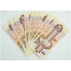 Lot (25) Bank of Canada 1986 $2.00.