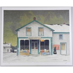 """A.J. Casson (1898-1992) """"Annabelle's General Stor"""