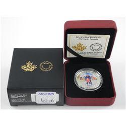 .9999 Fine Silver Coin $10.00 'Skating in Canada'