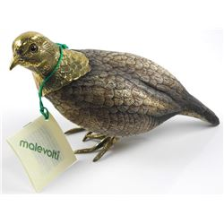 'MALEVOTI' Hand Made Duck Sculpture with Brass Acc