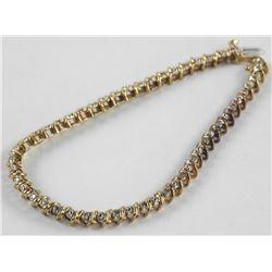 Estate Ladies 10kt Gold Diamond Set Tennis Bracele