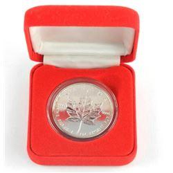 .9999 Fine Silver 2002 Maple leaf Round