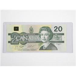 Bank of Canada 1991 Twenty Dollar Note. UNC.