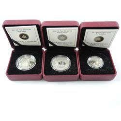 Lot (3) .9999 Fine Silver $10.00 and $3.00 Coins '