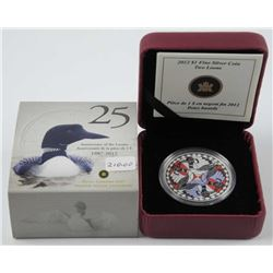 .9999 Fine Silver 1987-2012 - $1.00 Coin 'Two Loon