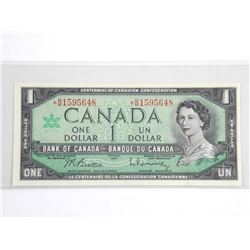 Bank of Canada (1867-1967) One Dollar Note * Repla