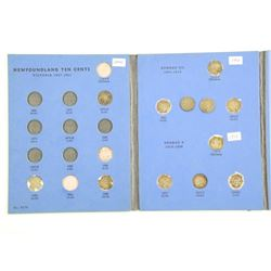 NFLD Silver 10 Cent Collection Whitman Folder Appr