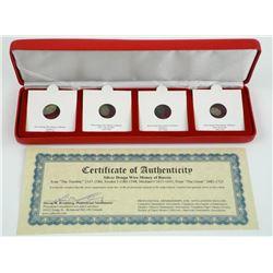 4 Piece Set - Silver Denga Wire Money of Russia