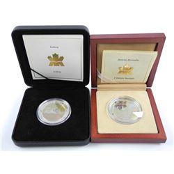 Lot (2) Natural Wonders .9999 Fine Silver $20.00 C