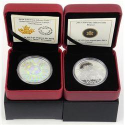 Lot (2) RCM $20.00 Coins 'Beaver' LE/C.O.A