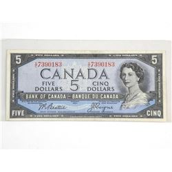 Bank of Canada 1954 Five Dollar Modified Portrait
