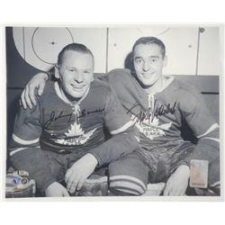 Vintage Photo 8x10 Johnny Bower and Frank Mahovlic
