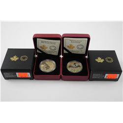 Lot (2) .9999 Fine Silver $10.00 and $20.00 Coin '
