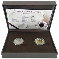 Nelson Mandela R5 Coin Set Proof Like, Laser Frost