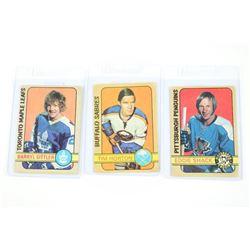 Lot (3) 1970s Hockey Cards - O Pee Chee: Shack, Si