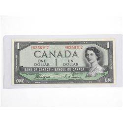 Bank of Canada 1954 One Dollar EF45. BC-29A