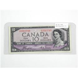 Bank of Canada 1954 - Ten Dollar Note. Devil's Fac