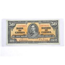 Bank of Canada 1937 Fifty Dollar G/T BC-26b (EF) (