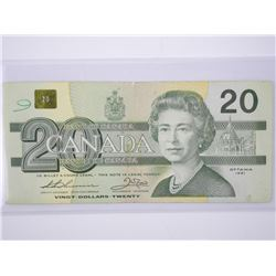 Bank of Canada 1969 Twenty Dollar Note