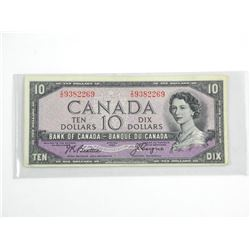 Bank of Canada 1954 - Ten Dollar Note. B/C VF-BC-3