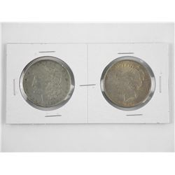Lot (2) USA Silver Dollars 1921 & 1922.