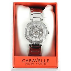 Ladies 'Caravelle' New York Watch (SER) with Swaro