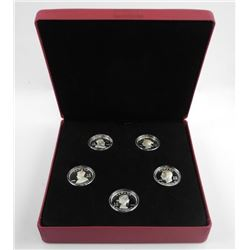 RCM 2008 - Crown 5 Coin Set 925 Sterling Silver wi