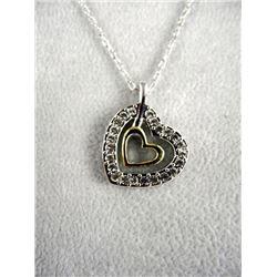 "925 S.S Custom Pendant & Chain w/S.E ""Heart"""