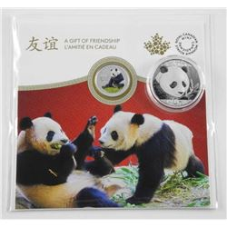 Lot (2) 2018 Panda coins 9.9 Fine Silver - 10 yuan