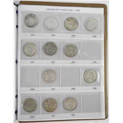 Estate Canada Silver 50 Cent Collection 1870-1952