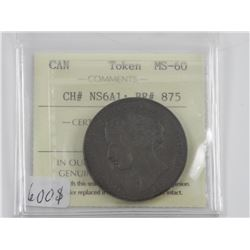 Canada Token MS-60 (OXR) CH#NS6A1 ; BR#875 Rare Gr